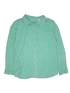 Sag Harbor Long Sleeve Button-Down Shirt Size 3X (Plus)