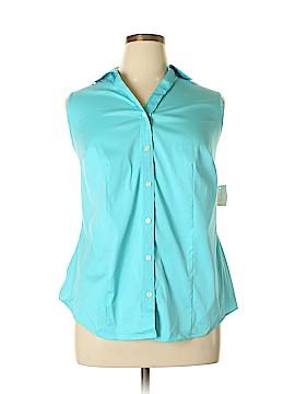 Charter Club Sleeveless Button-Down Shirt Size 14 (Plus)