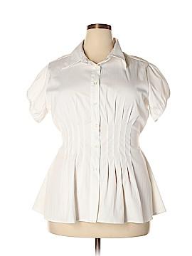 MKM Designs Short Sleeve Button-Down Shirt Size 1X (Plus)