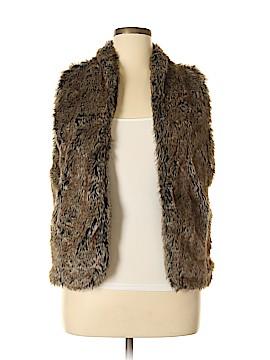 Sebby Faux Fur Vest Size L