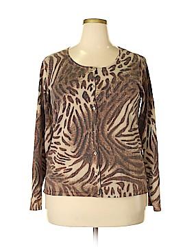 Jones & Co Silk Cardigan Size 2X (Plus)