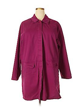 Denim Co Trenchcoat Size 1X (Plus)