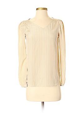 Katayone Adeli Long Sleeve Silk Top Size S