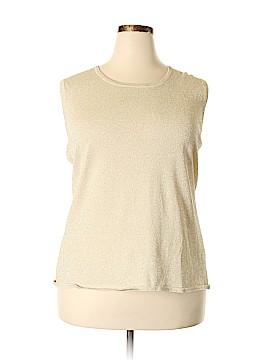 Laura Ashley Sleeveless Top Size 3X (Plus)