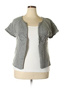 Soft Grey Wool Cardigan Size 14 - 16