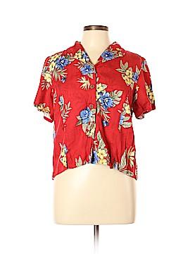 Caribbean Joe Short Sleeve Button-Down Shirt Size L