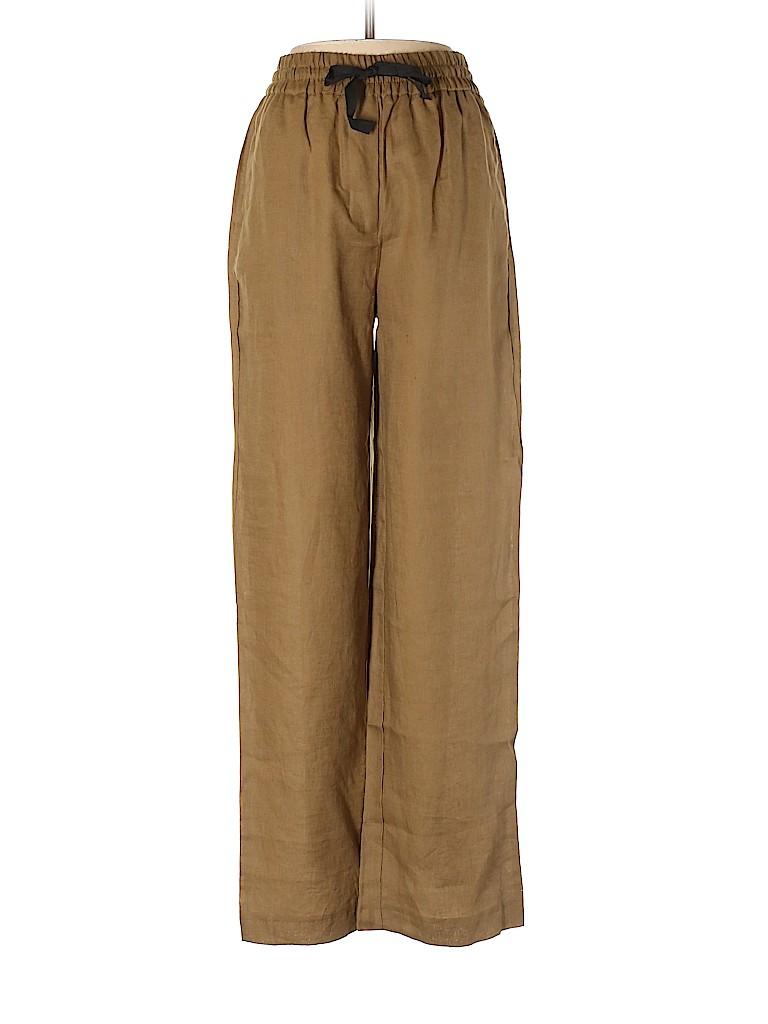 7c4f43f482 Zara 100% Linen Solid Brown Linen Pants Size XS - 54% off