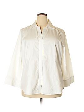 Foxcroft Long Sleeve Button-Down Shirt Size 18 (Plus)