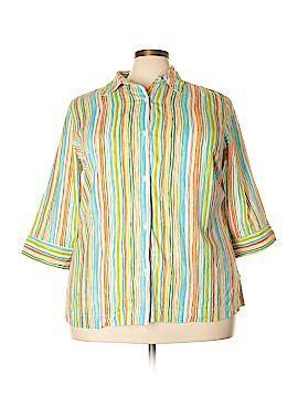 Koret 3/4 Sleeve Button-Down Shirt Size 20 (Plus)