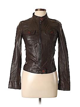 Vera Pelle Faux Leather Jacket Size 44 (EU)