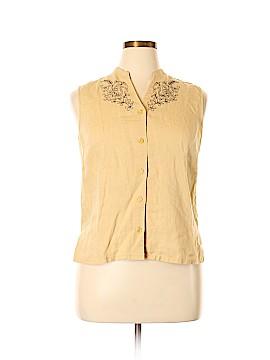 Style&Co Sleeveless Button-Down Shirt Size 14 (Petite)