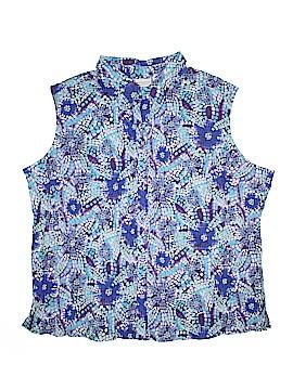 White Stag Sleeveless Button-Down Shirt Size 30 - 32 (Plus)