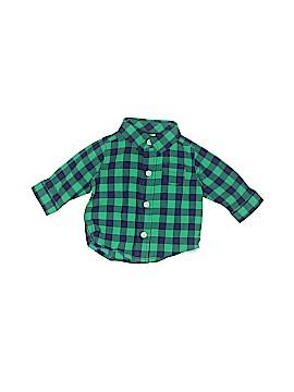 Carter's Long Sleeve Button-Down Shirt Newborn