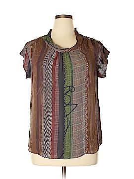 Sachin + Babi for Ankasa Short Sleeve Silk Top Size XL