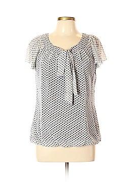 Sara Michelle Short Sleeve Blouse Size M
