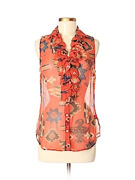 Lauren by Ralph Lauren Sleeveless Silk Top Size M