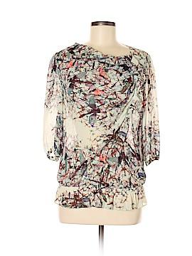Ted Baker London 3/4 Sleeve Silk Top Size 8 (3)