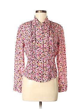 JouJou Long Sleeve Silk Top Size M