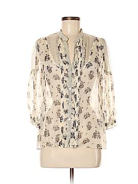 Zara 3/4 Sleeve Silk Top Size M