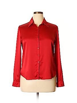 Casual Corner Long Sleeve Silk Top Size 14