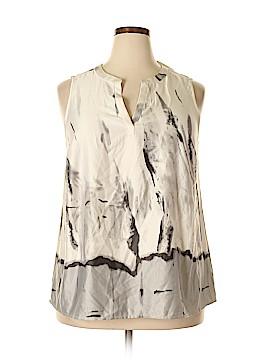 Cynthia Rowley TJX Short Sleeve Blouse Size 1X (Plus)