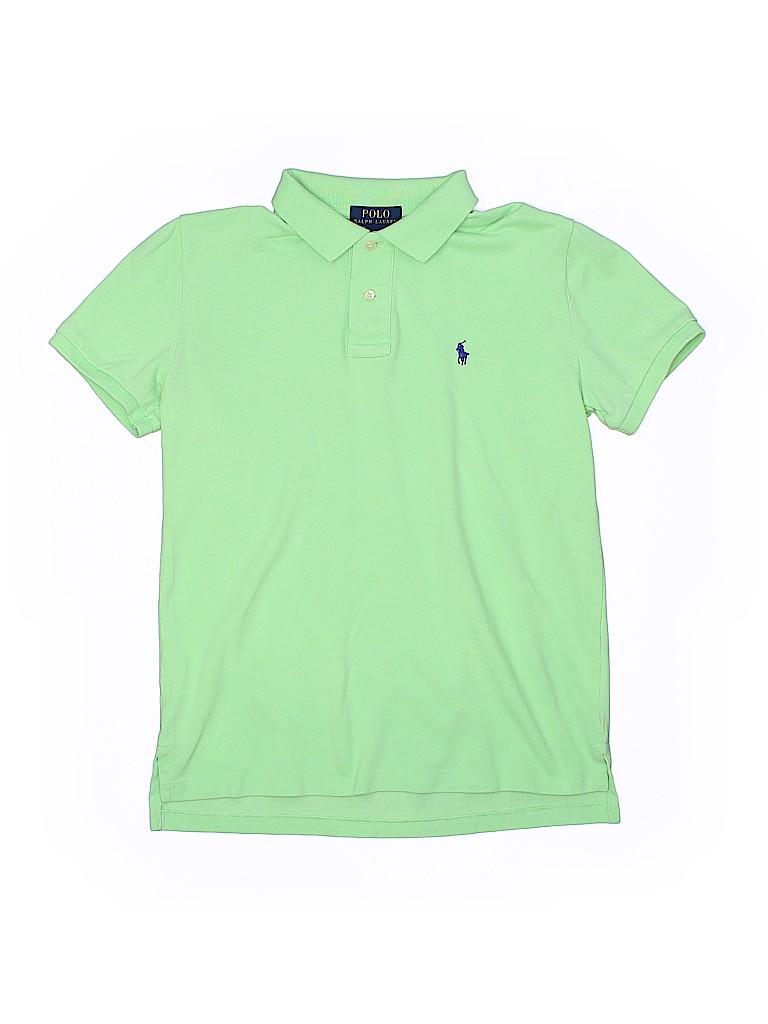 bb7d1d81 Polo by Ralph Lauren 100% Cotton Solid Light Green Short Sleeve Polo ...