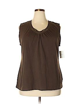 Croft & Barrow Sleeveless T-Shirt Size 2X (Plus)
