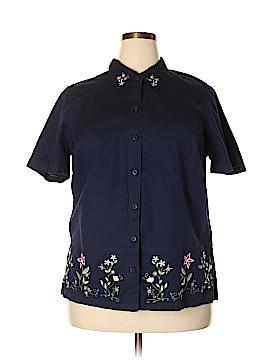 Fashion Bug Short Sleeve Button-Down Shirt Size 18 - 20 (Plus)