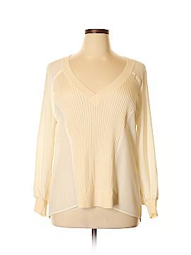 St. John Long Sleeve Silk Top Size XL