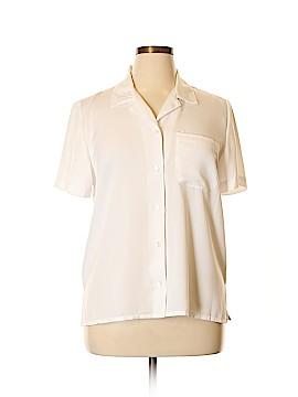 Alfred Dunner Short Sleeve Button-Down Shirt Size 14