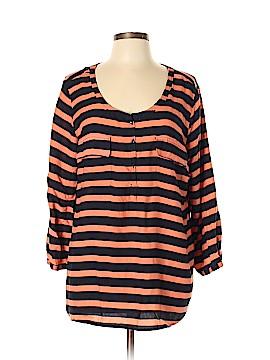St. John's Bay 3/4 Sleeve Henley Size XL