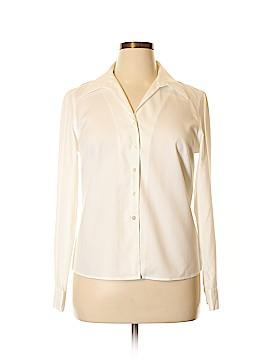 Jones Wear Long Sleeve Button-Down Shirt Size 14