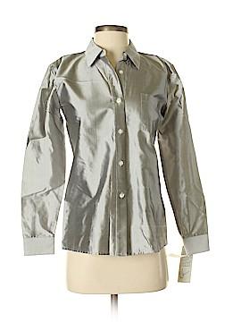 DKNY Long Sleeve Silk Top Size 4 (Petite)