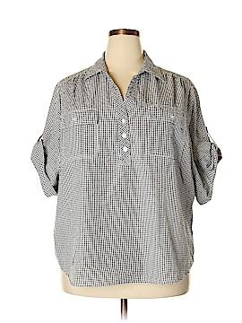 Cathy Daniels Short Sleeve Button-Down Shirt Size 2X (Plus)