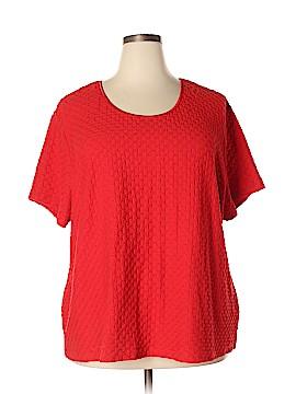 Sag Harbor Short Sleeve Top Size 4X (Plus)