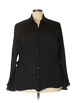 Venezia Long Sleeve Silk Top Size 22 - 24 Plus (Plus)