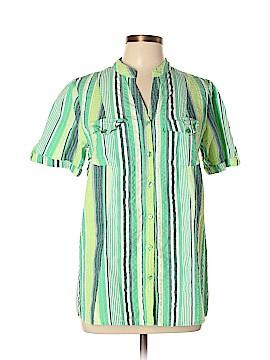 Roaman's Short Sleeve Button-Down Shirt Size 12w