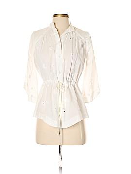Lauren Moffatt 3/4 Sleeve Button-Down Shirt Size S