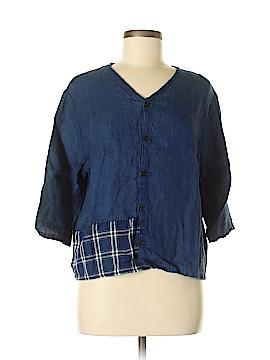 CP Shades 3/4 Sleeve Button-Down Shirt Size M