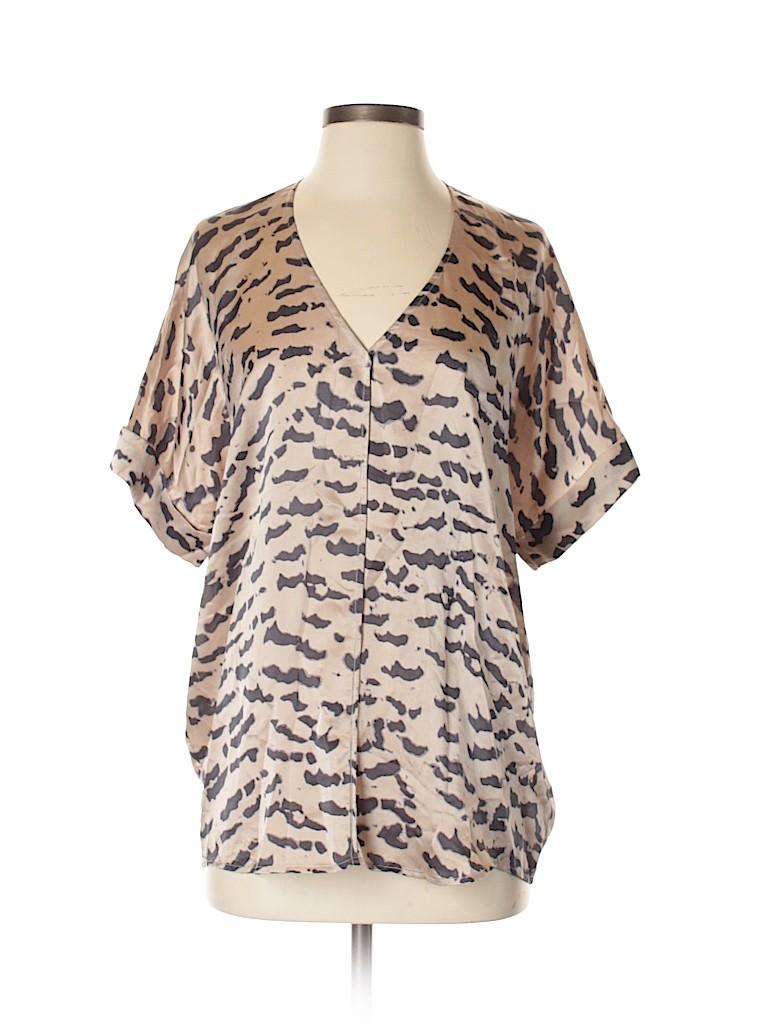 CAbi Women Short Sleeve Silk Top Size S