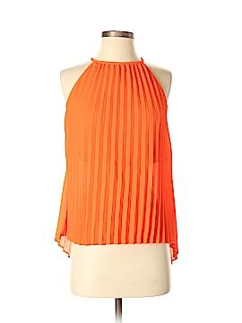 Line & Dot Sleeveless Blouse Size XS
