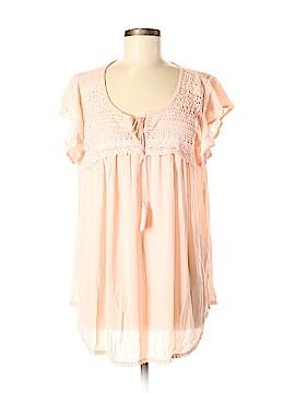 Suzanne Betro Short Sleeve Blouse Size M