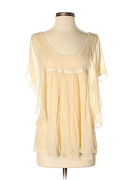 LUXE Short Sleeve Silk Top Size XS