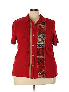 Koret Short Sleeve Blouse Size 2X (Plus)
