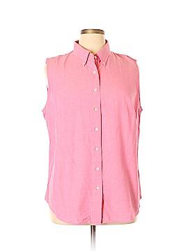 Lands' End Sleeveless Button-Down Shirt Size 20 (Plus)