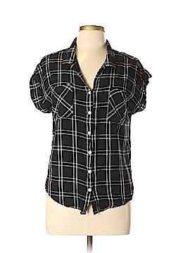 Jach's Girlfriend Short Sleeve Button-Down Shirt Size L