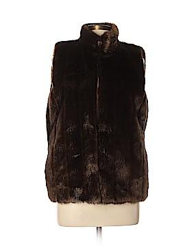 Jones New York Signature Faux Fur Vest Size L