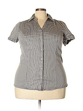 Lane Bryant Short Sleeve Button-Down Shirt Size 22 (Plus)