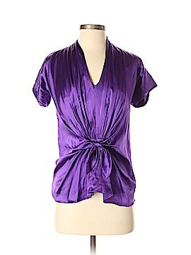 Tadashi Short Sleeve Silk Top Size 2
