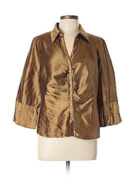 Sunny Taylor 3/4 Sleeve Silk Top Size XL